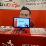 Taxi Charger booth at the Exhibition Hall