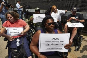 uber-protest lack of accessible vehicules
